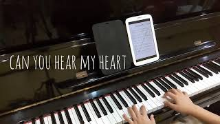 Epik high ft Leehi — Can you hear my heart piano cover jianpu