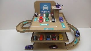 DIY Parking for cars out of cardboard How to make Parking for cars