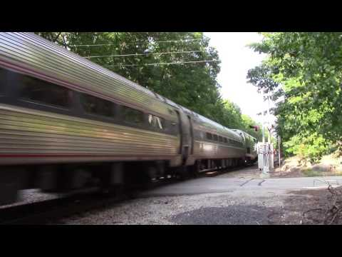 HD Fast Amtrak 686 at Russ Crossing with NPCU #90220 leading 8-20-16