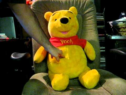 Ebay Item Demo Talking 28 Inch Plush Winnie The Pooh Youtube