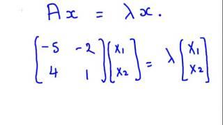 Eigenvalues and Eigenvectors of 2 by 2 matrix