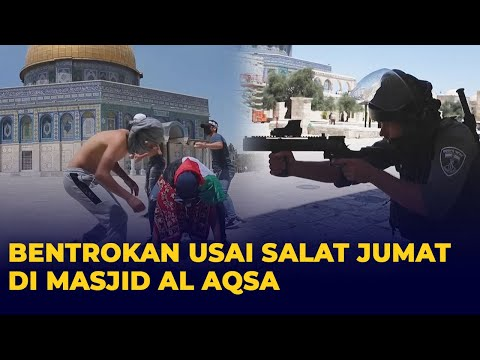 Bentrokan Warga Palestina dan Polisi Israel Usai Salat Jumat di Masjid Al Aqsa