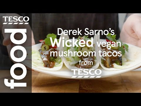 Derek Sarno's Wicked vegan mushroom tacos | Tesco Food