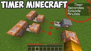 FAIRE UN TIMER AVEC DES COMMAND BLOCKS - Tuto facile Minecraft 1.8 1.9 1.10  1.11