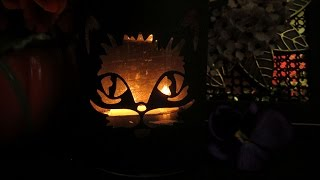 Black Cat - Halloween Card + Candle Sleeve