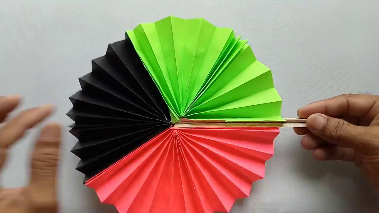 The best way to make a paper fan out of rectangle paper.make some great.