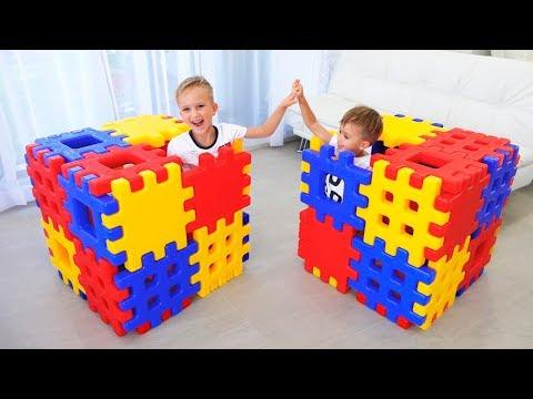 Vlad and Nikita build Playhouses best series for kids