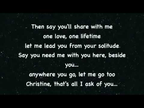 All I ask of you  Steve Barton & Sarah Brightman