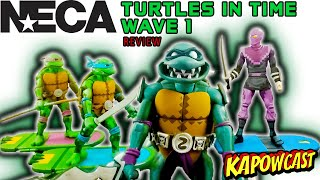 NECA TURTLES IN TIME WAVE 1 UNBOXING AND REVIEW