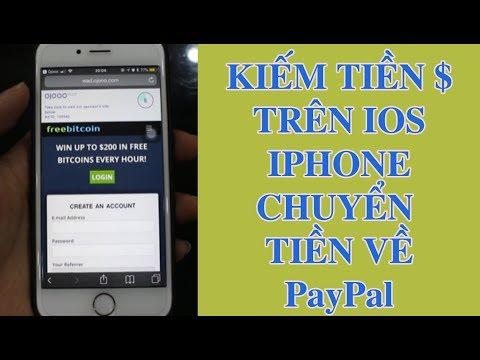 Kiếm tiền miễn phí trên Ios Iphone thanh toán Paypal như