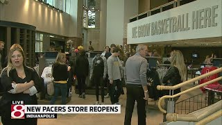 Pacers store reopens for fans Friday