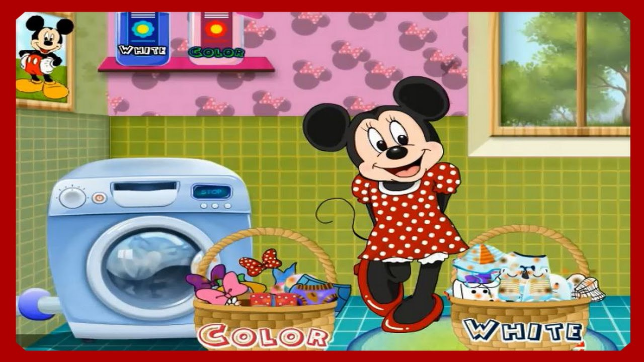 watch learn with minnie mouse washing clothes video episode for little kids cartoon games online - Mickey Mouse Online Games For Toddlers