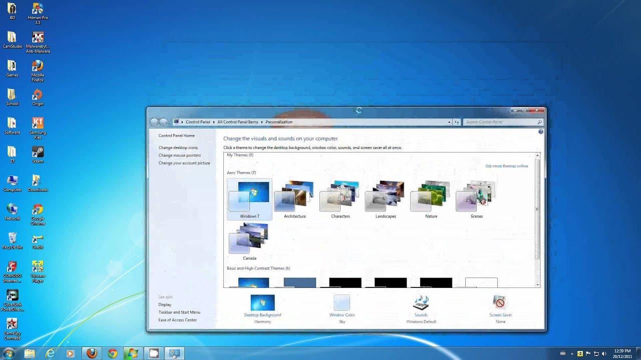 how to change your windows 7 desktop background basic method
