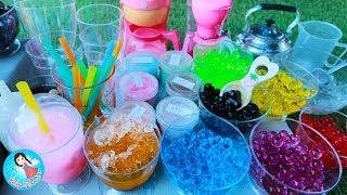 ละครสั้น เจ้เปิดร้านขายชานมไข่มุกหลากสี ของเล่นทำอาหาร ของเล่นเครื่องครัว ชาไข่มุก