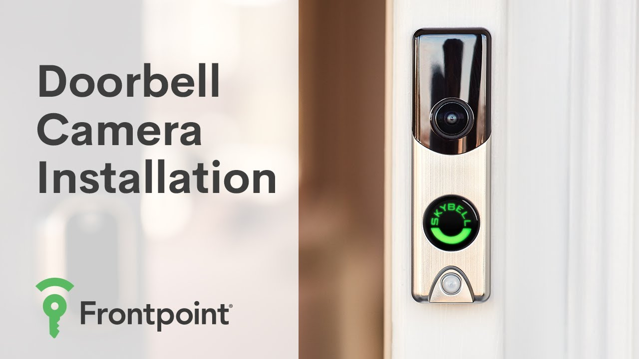 How To Install Frontpoint Video Doorbell Hardware Youtube Home Wiring