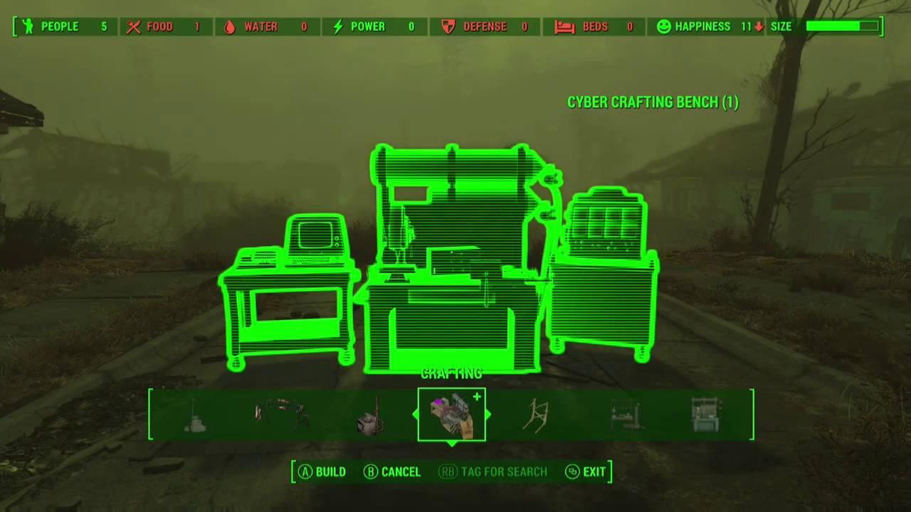 Fallout 4 How To Craft The Cyber Crafting Bench Exo