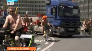 Нудисты прокатились по Брюсселю на велосипедах(Нудисты прокатились по Брюсселю на велосипедах Выпуск от 17.06.2013 В Брюсселе прошел велопробег нудистов...., 2013-06-17T12:35:53.000Z)