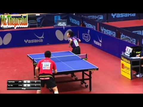Tomokazu Harimoto 11 tuổi và Xu Hui chung kết Bóng bàn Safir Open 2015