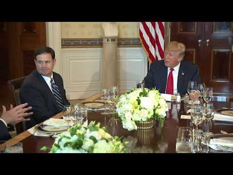 President Trump has Dinner with Governors on Border Security and Safe Communities