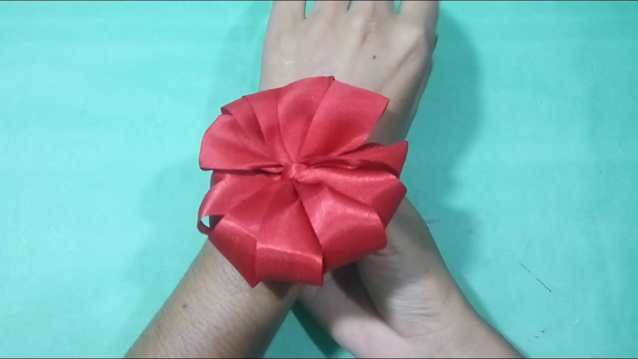 How To Make Ribbon Flowers Step By Step Diy Satin Ribbon Flower Tutorial