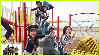 COPS AND ROBBERS Get The Gold! - Playground Wars / That YouTub3 Family