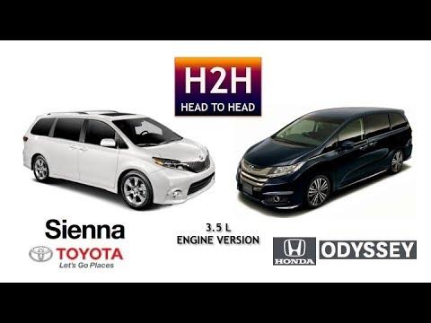 H2h 25 toyota sienna vs honda odyssey 3 5 l engine for Should i buy a toyota sienna or honda odyssey