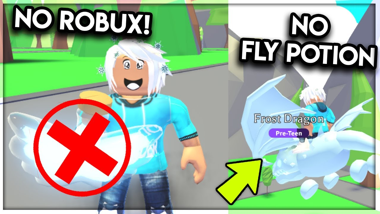 Fly Your Pet Without A Fly Potion In Adopt Me No Robux Needed Roblox Youtube