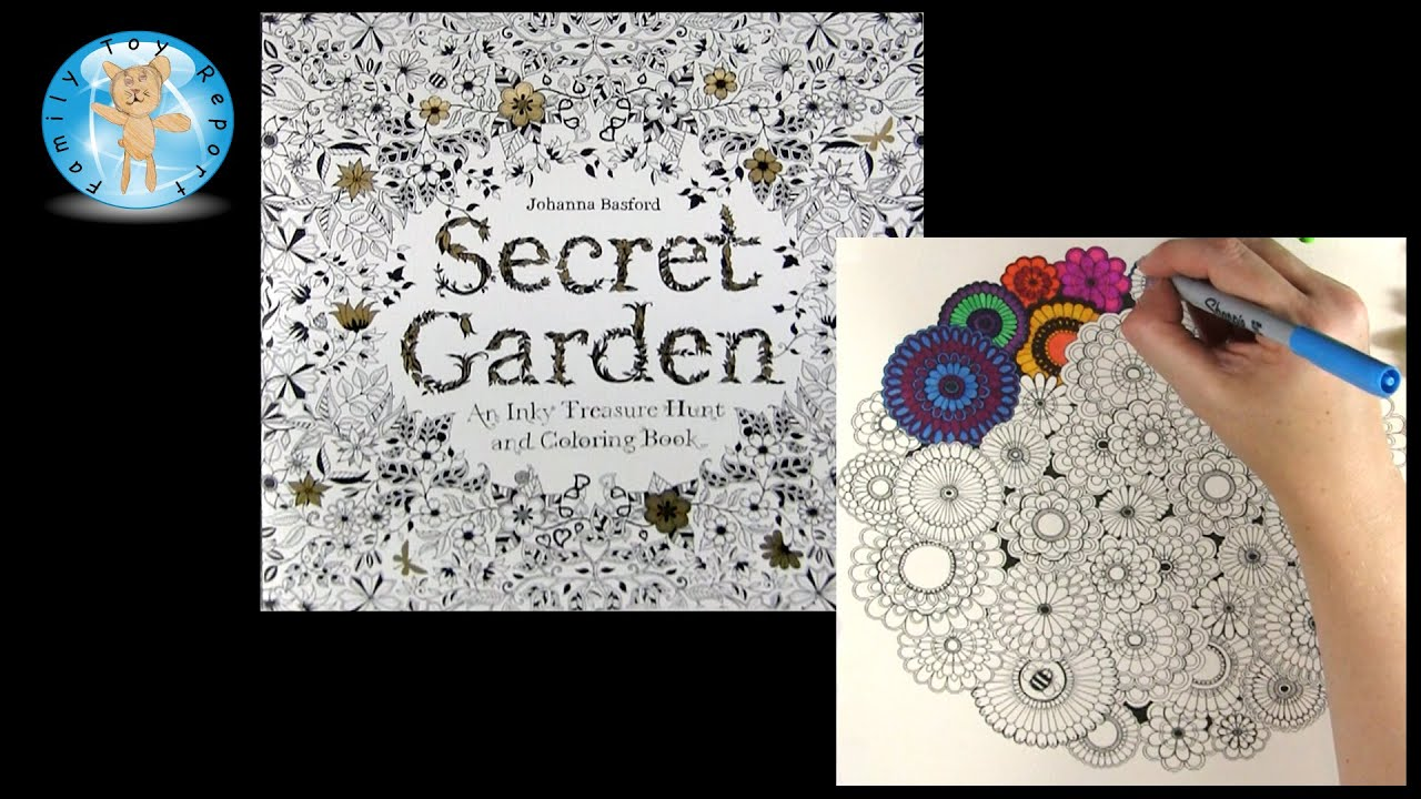 Secret Garden By Johanna Basford Adult Coloring Book Colorful Flowers
