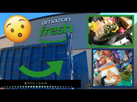 Dumpster Diving For Food From Amazon Fresh & More! S1E49