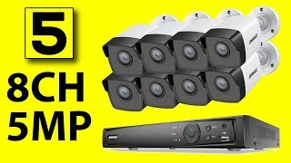 Top 5 Best Surveillance Camera System 2019 | 8CH 5MP Security Camera