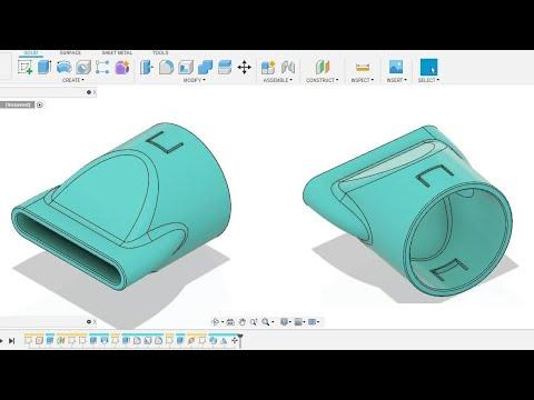 Fusion 360 beginner's Exercise #7 - Fusion 360 tutorial thumbnail