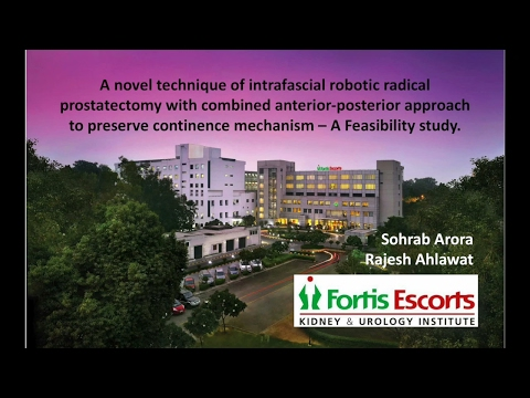 Robotic Radical Prostatectomy To Preserve Early Continence
