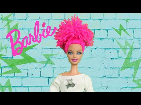 DIY Barbie Hairstyles ~ Curly Updo Bun Hair Transformation for Barbie and Doll Clothes Hacks Ideas