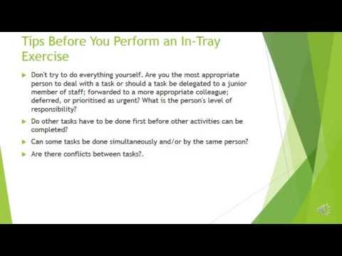 In-Tray Exercises - Examples, Tips & More