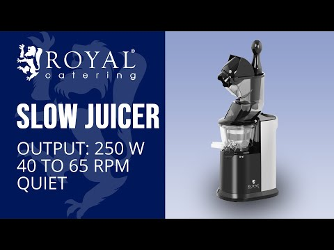 Slow Juicer - whole fruits RCSS-AC250W | Product Presentation | Royal Catering