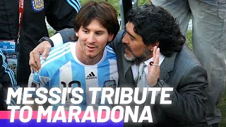 Lionel Messi's moving tribute to Diego Maradona | Oh My Goal