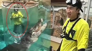 Funny Lee Kwang Soo vs Giant Crocodile as Running Man Punishment in Australia