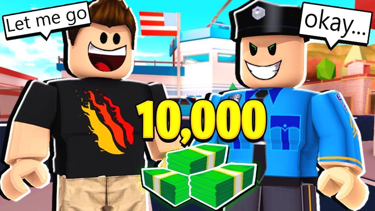 Bribing Cops Gone Wrong Roblox Jailbreak Youtube - no cops free for all roblox jailbreak youtube