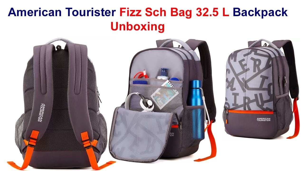 f81fea6afe2397 American Tourister Fizz Sch Bag 32.5 L Backpack Unboxing - YouTube