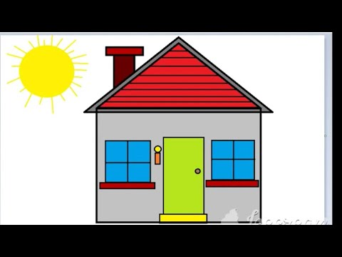 Drawing a Simple House in MS Paint || Kids || - YouTube