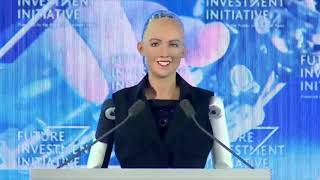 connectYoutube - Robot Sophia speaks at Saudi Arabia's Future Investment Initiative