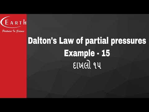 Dalton's Law of partial pressures Example - 15 | દાખલો ૧૫ | States of Matter : Gas and Liquid