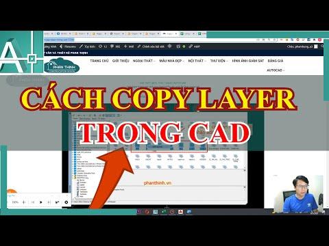 Copy layer trong cad, cách copy layer từ file này sang file khác trong cad
