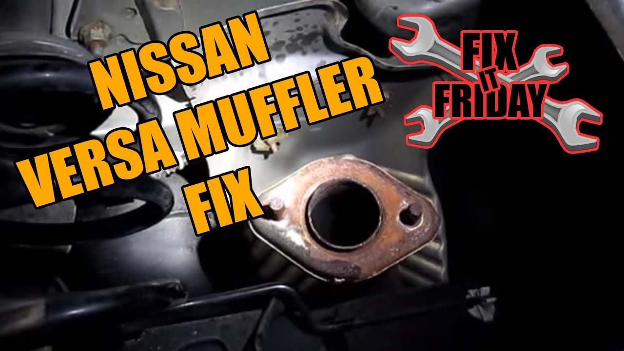 hight resolution of 2006 2013 nissan versa muffler replacement