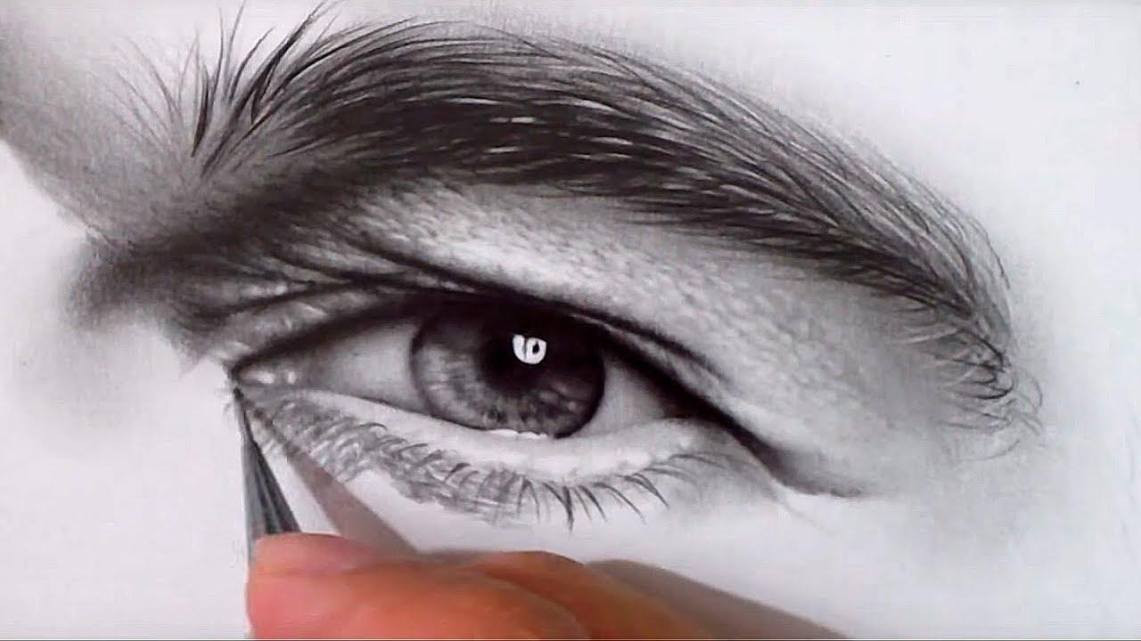 Como Desenhar Um Olho Realista Passo A Passo