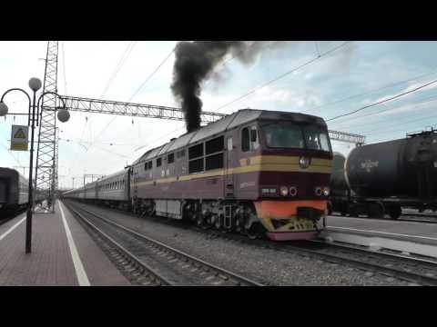 """Отправление поезда 479 """"Санкт-Петербург - Сухум"""" со станции Тула 27.07.2017"""