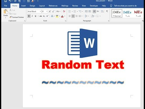 How To Insert Random Text In Microsoft Word Document