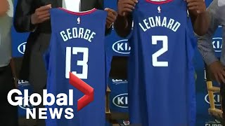 L.A. Clippers introduce Kawhi Leonard, Paul George 🏀⛵ | FULL