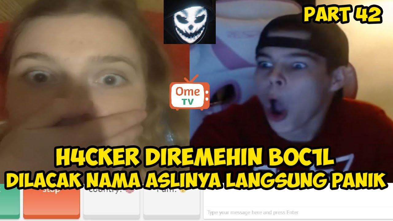 H4CKER DIREMEHKAN BOC1L, KELACAK NAMANYA LANGSUNG PANIK | PRANK HACKER OME.TV INTERNASIONAL #42