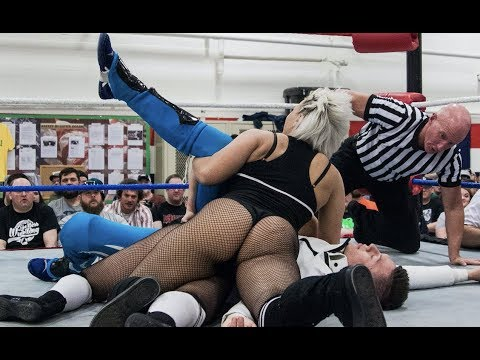 The Platinum Hunnies vs Brett Domino - Limitless Wrestling Intergender Mixed WWR